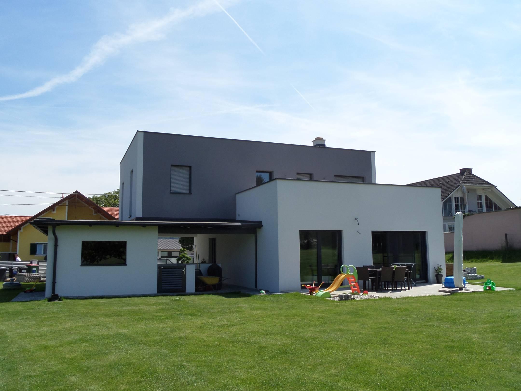 Viva haus hausbauen in der steiermark modernes for Flachdachhaus modern